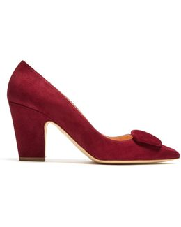 Pierrot Point-toe Suede Pumps