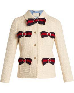 Bow-detail Tweed Jacket