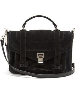 Ps1+ Medium Suede Shoulder Bag