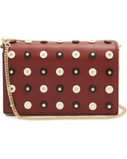 Soirée Embellished Leather Cross-body Bag