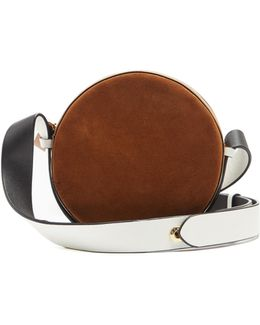 Circle Leather And Suede Cross-body Bag