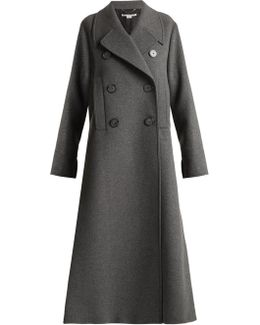 Edvina Side-slit Wool-blend Coat