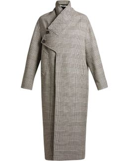 Prince Of Wales-checked Oversized Coat