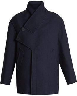 Linda Asymmetric-detail Wool-blend Coat