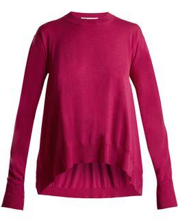 Side-slit Wool Sweater