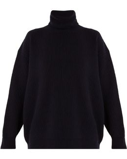 Roll-neck Cashmere And Wool-blend Sweater