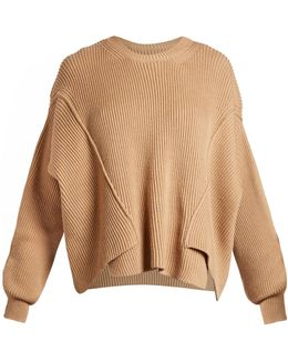 Round-neck Ribbed-knit Sweater