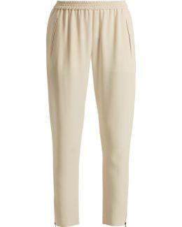 Tamara Cropped Stretch-cady Trousers