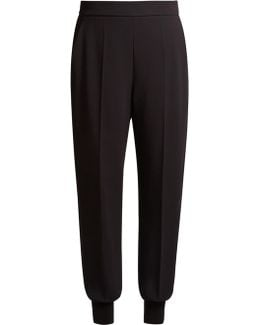 Julia Tapered-leg Cady Trousers