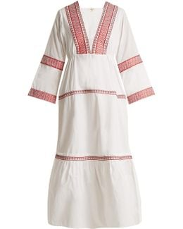 Istanbul Embroidered Cotton Dress