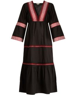Istanbul Embroidered-cotton Dress