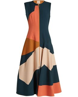 Celeste Colour-block Crepe Dress