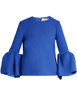 Truffaut Bell-sleeved Crepe Top