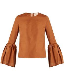 Truffaut Bell-sleeved Cotton Top