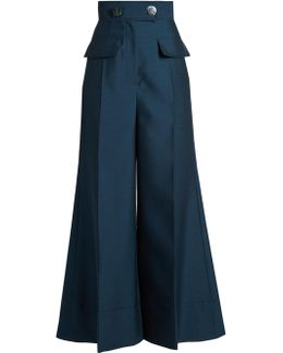 Hasani High-rise Wide-leg Trousers