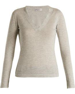 V-neck Cashmere And Silk-blend Top