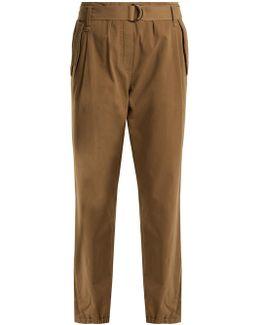 Straight-leg Stretch-cotton Chino Trousers