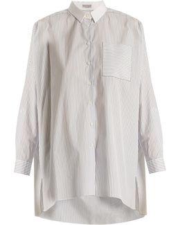 Oversized Pinstriped-cotton Shirt