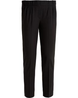 Slim-leg Wool-blend Cropped Trousers