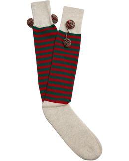 Rudolph Striped-wool Socks
