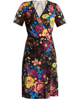 Bournier Floral-print Silk Wrap Dress