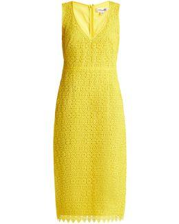 Sleeveless V-neck Tailored Midi Dress