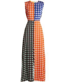 Contrasting Cossier-print Stretch-silk Dress
