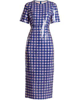 Cossier-print Sequin-embellished Dress