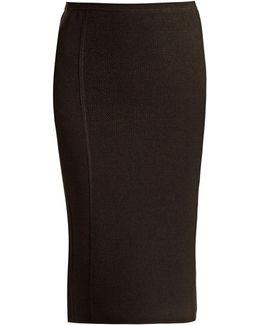 Textured-knit Pencil Skirt