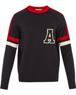 Tri-colour Wool-blend Sweater