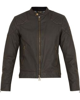 Outlaw Waxed Cotton-blend Jacket