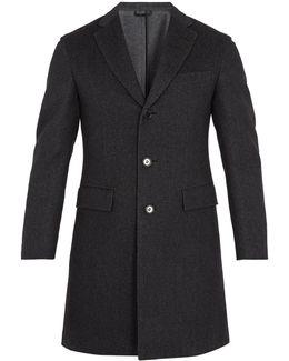 Single-breasted Wool-blend Overcoat