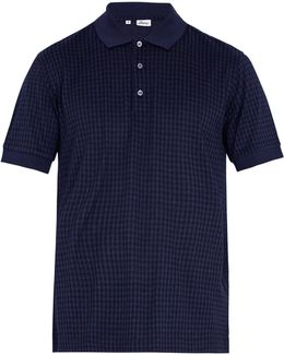 Checked Cotton And Silk-blend Polo Shirt