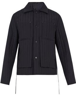 Tie-waist Quilted Wool Jacket