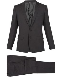 Martini Single-breasted Striped Wool Suit