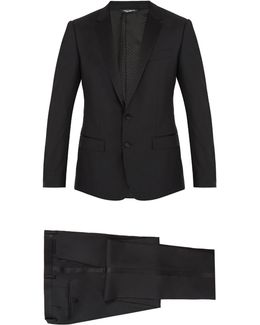 Notch-lapel Wool And Silk-blend Tuxedo