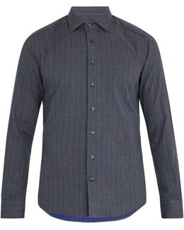 Striped Single-cuff Cotton Shirt