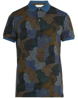 Paisley-print Cotton-piqué Polo-shirt