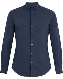 Single-cuff Flannel-cotton Shirt