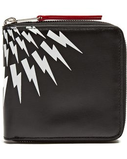 Lightning-bolt Zip-around Wallet
