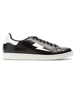 Thunderbolt Low-top Leather Trainers