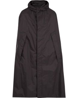 Self-stowing Hooded Poncho