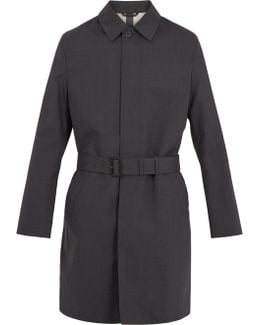 Single-breasted Wool Trench Coat