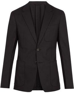 Notch-lapel Single-breasted Wool Blazer