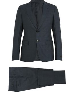 Single-breasted Checked Wool Suit