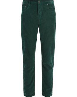 Slim-leg Cotton-corduroy Trousers