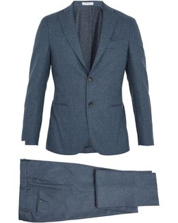 Single-breasted Flannel-wool Suit