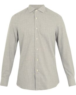 Regular-fit Single-cuff Checked Cotton Shirt