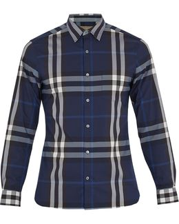 Nelson Stretch Button-down Shirt - Slim Fit