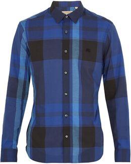 Coatson Logo-embroidered Checked Cotton Shirt